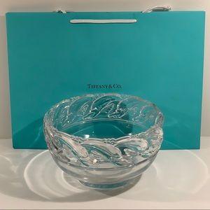 Tiffany & Co. Crystal Dolphin Bowl